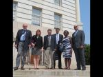 On the Steps of the Capitol: Robb Koebert, Lois Connolly, Jim Nicholson, Brent Boettcher, Joy Ngobi-Babuwe and Joe Strosin