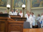 In the Senate on Doctor's Day in Madison