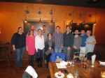 Residents Dinner in Milwaukee: Christina Diaz, Mallory Bugel, Joe Strosin, Gena Dermody, Brent Boettcher, Rose Campise Luther, Dave Ferron, Jonathan Adams, Domagoj Mladinov, Jonathan Borders and Carolyn Pinkerton